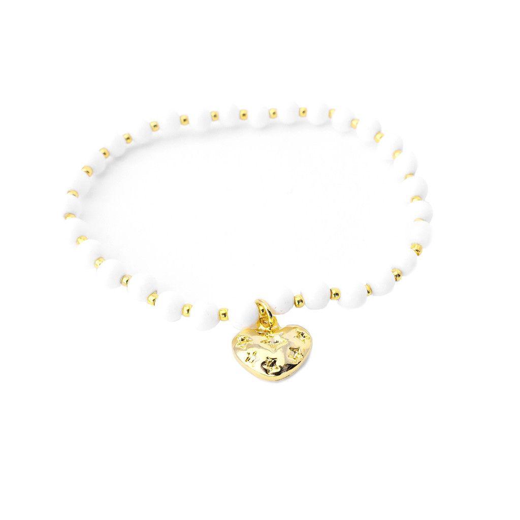 Perla Gold/White Bracelet - Majolie   - 1