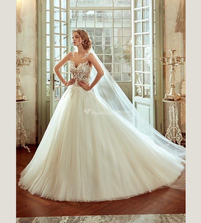 115 vestidos de novia de corte princesa para tu boda   Vestidos de ...