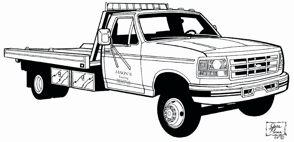 Tow Truck Coloring Page Elegant Collection Of Flatbed Truck