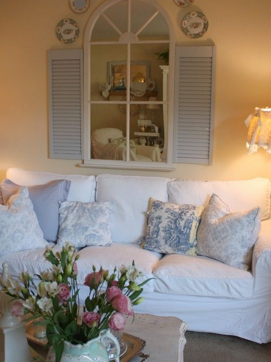 "Romantic Style Living Rooms: ""Romantic Cottage Living Room"""