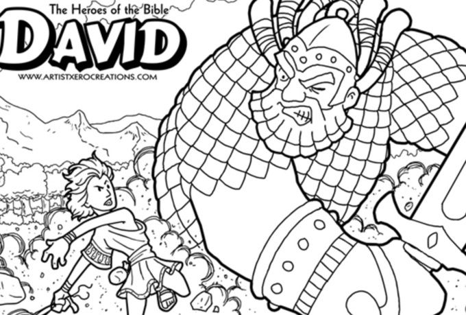 David And Goliath Sheets - Google Search Bible Coloring, Sunday School Coloring  Pages, Bible Coloring Pages