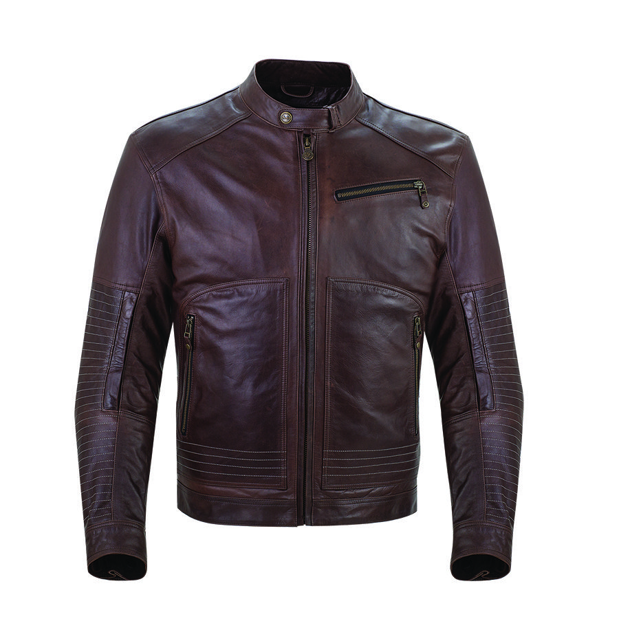Men's Leather Phoenix Riding Jacket with Removable Lining