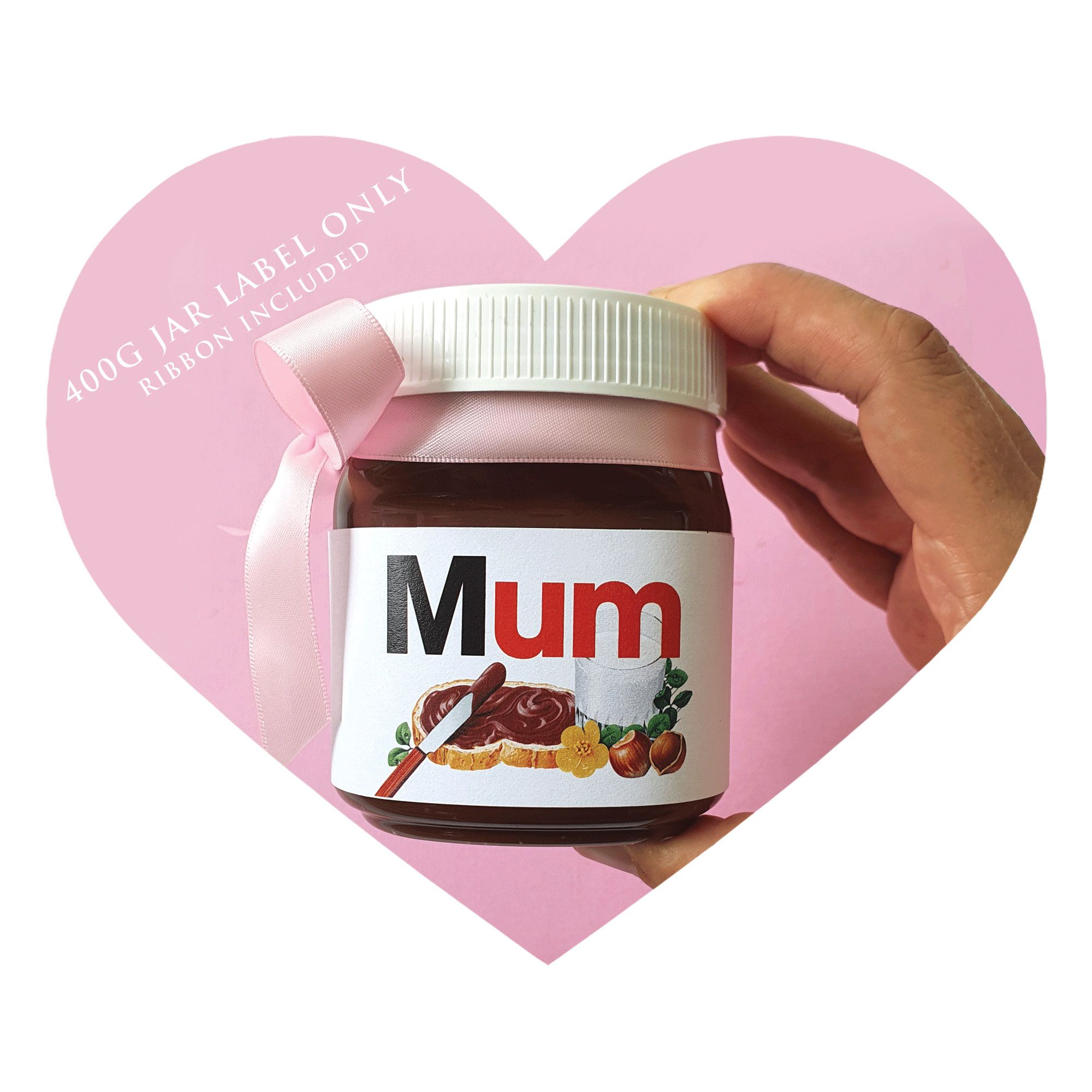 Personalised Mother S Day Gift Personalised Nutella Jar Label Personalised Personalized Mother S Day Gifts Mother S Day Gift Baskets Personalised Nutella Jar
