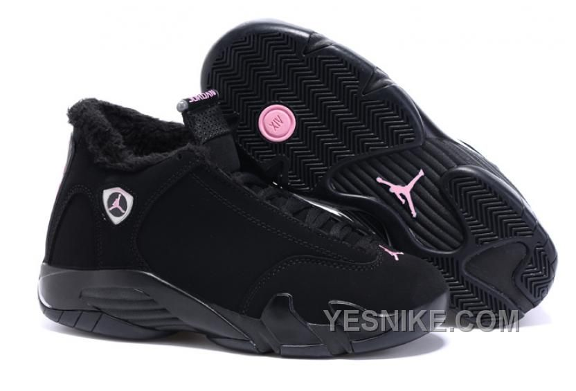 new style 5a2ad 37ede air jordan retro 14 womens black pink