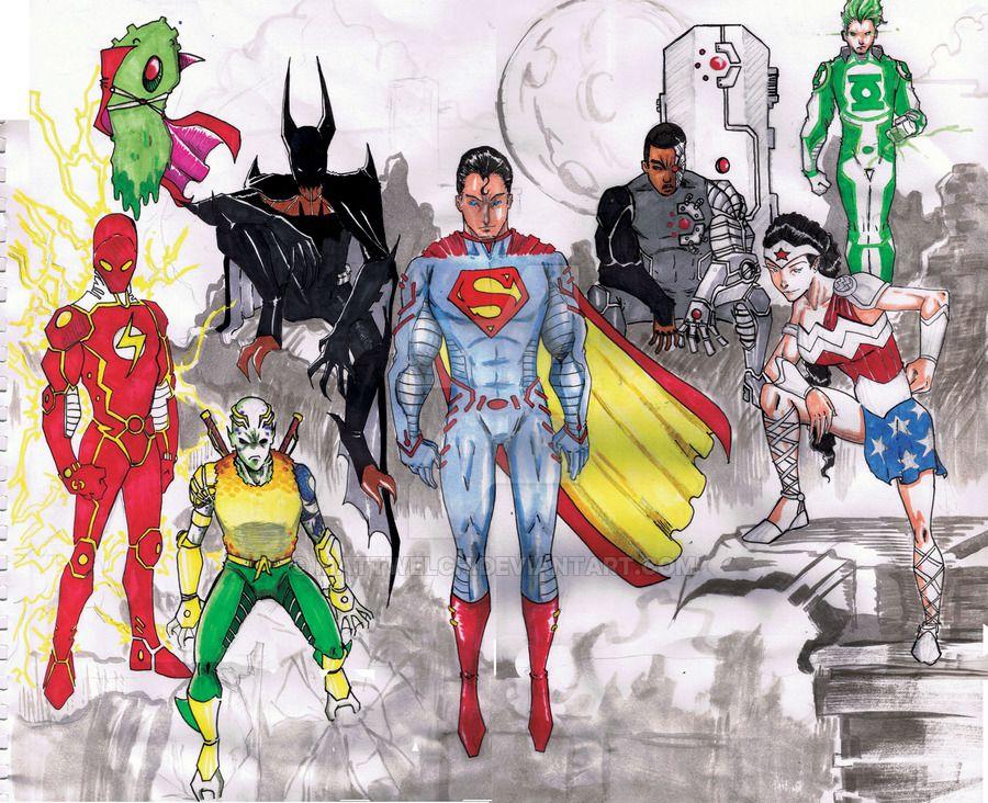 Justice League Redesign By Mattwelch Martian Manhunter If You Re A Shapeshifter Why Should Your Original Superhero Art Superhero Design Batman Redesign