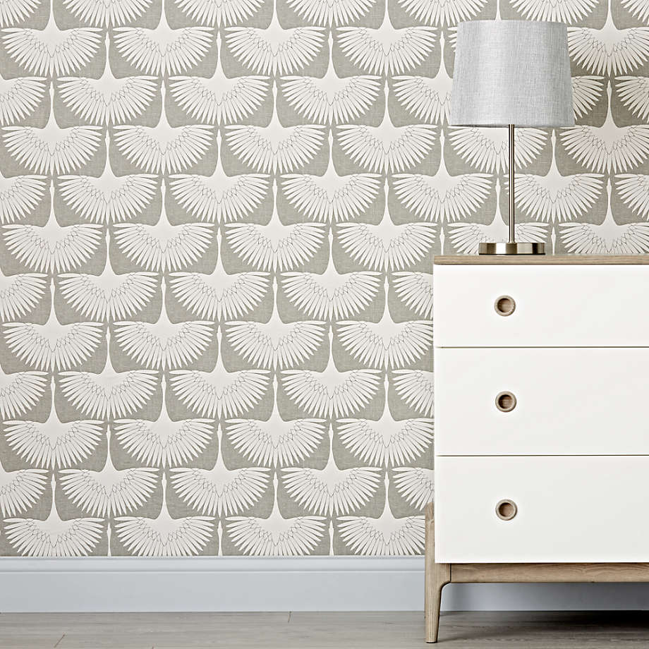 Tempaper Feather Flock Removable Wallpaper Reviews Crate And Barrel In 2020 Genevieve Gorder Removable Wallpaper Trending Decor