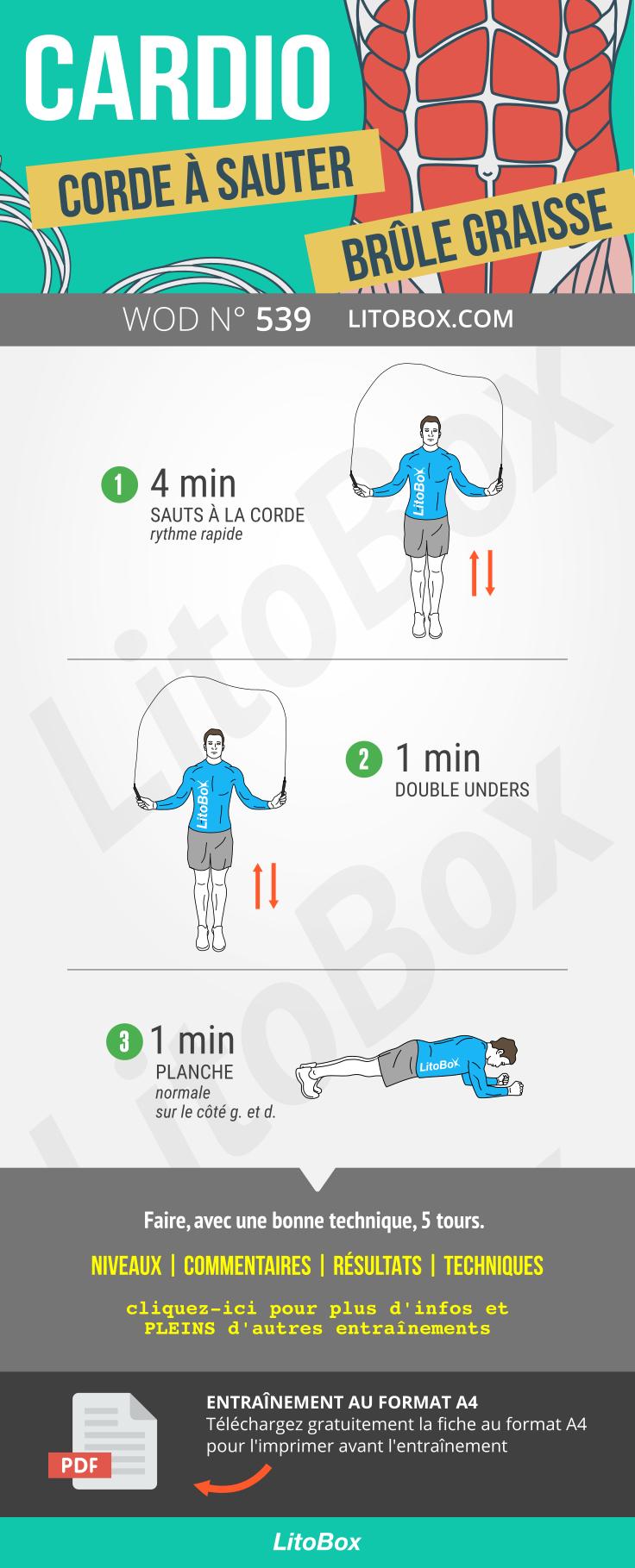 Cardio et corde à sauter (PDF à télécharger) | Exercice ...