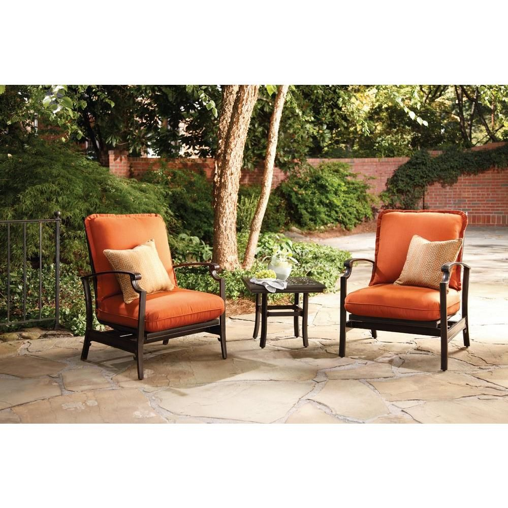 Thomasville messina concealed motion patio club chair with paprika cushions 2 pack fg mncmcch cp the home depot