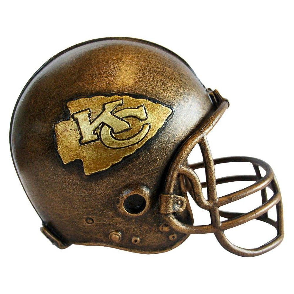 Kansas City Chiefs NFL Helmet Statue Sculpture By Tim Wolfe Desk Top Decoration