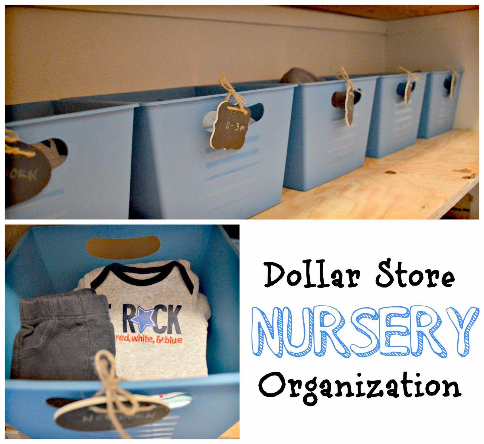 Thrifty Thursday: Dollar Store & Thrift Store Nursery Organization