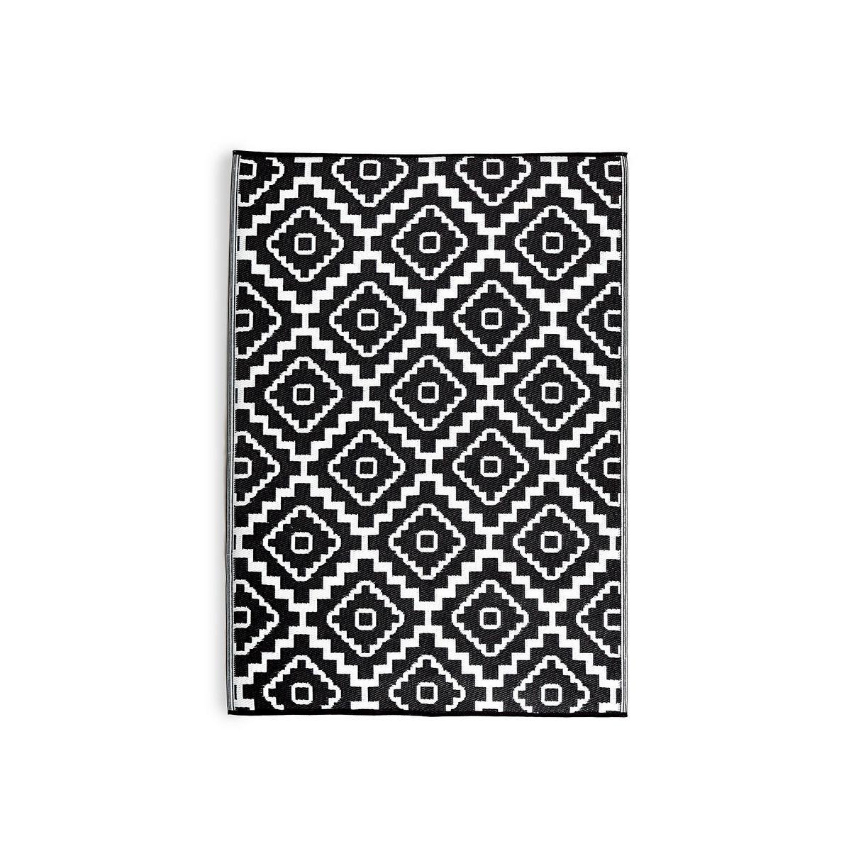 Teppich Outdoor Marokko schwarz ca L:90 x B:150 cm   // haus # küche ...