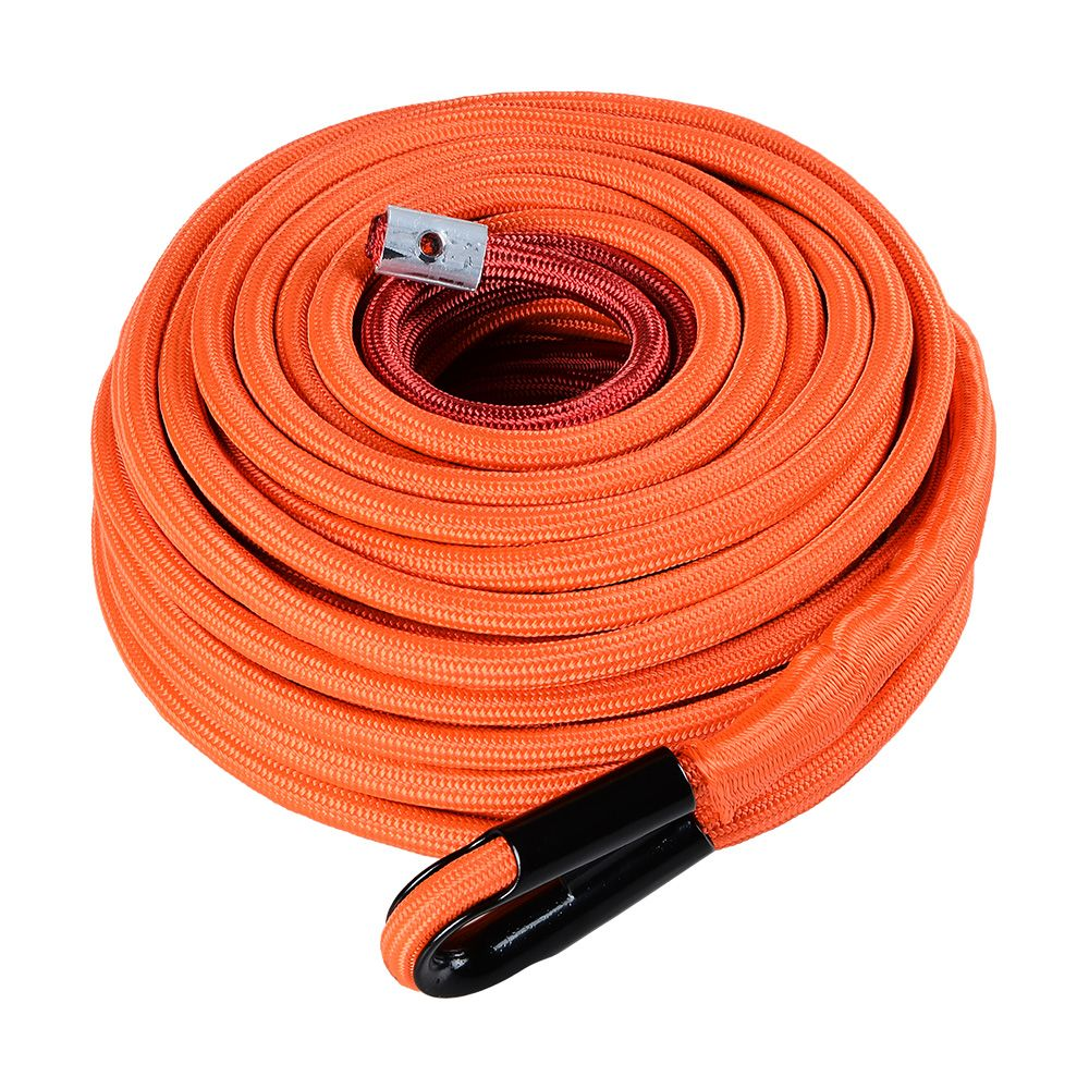 95ft X 3 8 Orange Synthetic Winch Rope Line Cable 22000lbs All Rock Heat Guard For Jeep Atv Utv Truck Boat Ramsey With Images Synthetic Winch Rope Winch Rope Jeep Winch