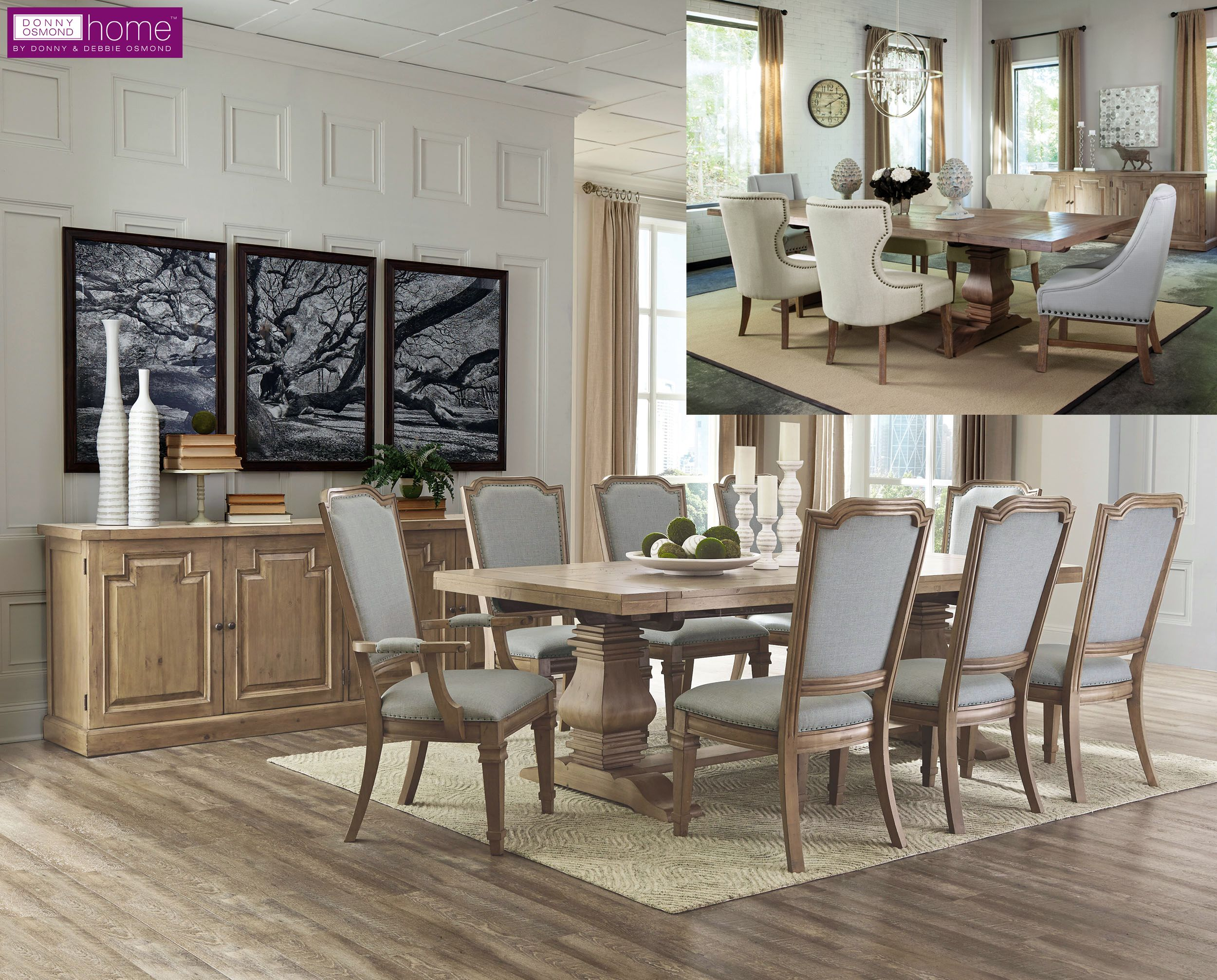 Available With Two Chair Options The Florence Dining Table Is The