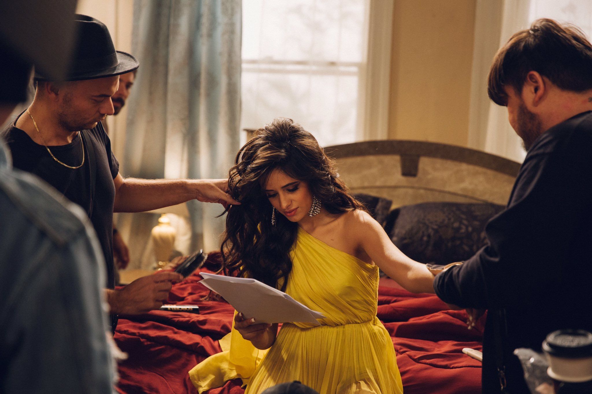 Camila Cabello behind the scenes of the Havana Music Video