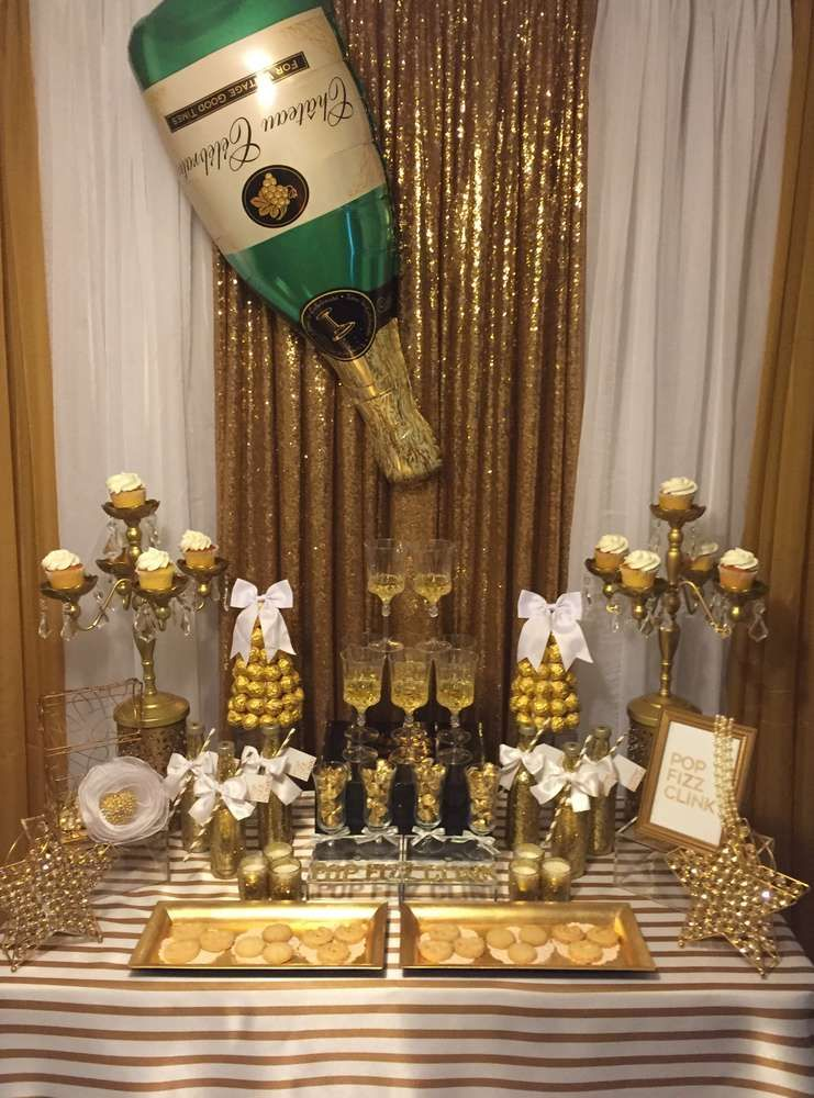 Birthday Party Ideas Photo 1 Of 15 New Years Eve Decorations Champagne Birthday Birthday Party Decorations