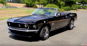 Triple Black 1969 Ford Mustang 351 Convertible Ford Mustang Mustang Ford Mustang 1969
