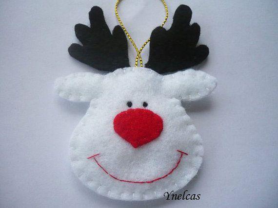 Rudolph das rote gerochene ren felt Christmas ornament von ynelcas