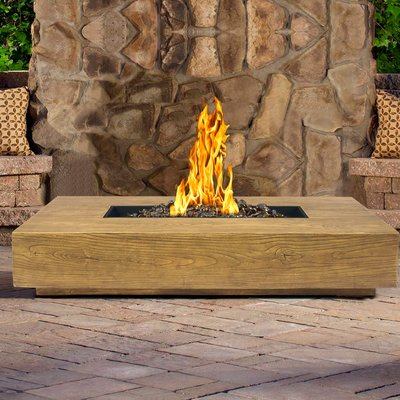 Crossweave Steel Wood Burning Fire Pit Gas Fire Pit Table