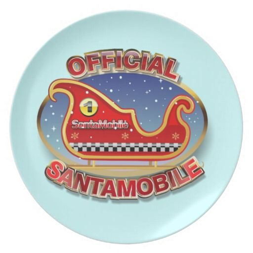 40% OFF ***Black Friday 2014*** Save 40% on plates TODAY ONLY with coupon ZAZBLACKDEAL Expires on Nov. 28, 2014 at 11:59 PM PT. SantaMobile Party Plate