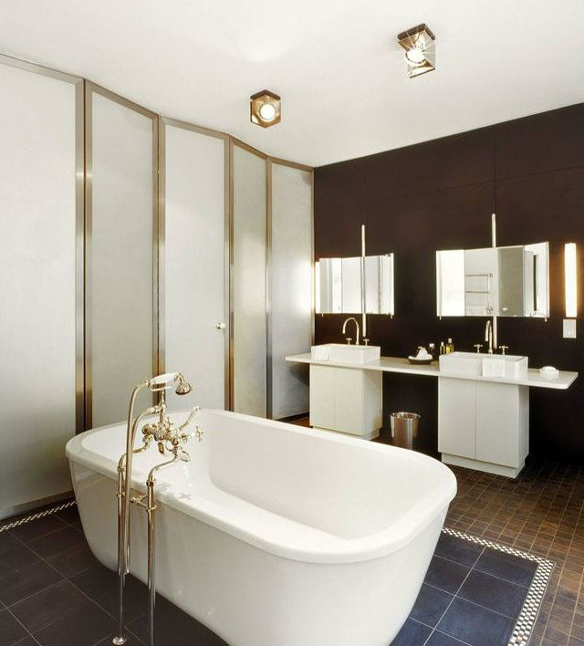 Bathroom's design by Andree Putman #interiordesigner #bestinteriordesigners  #interiordesigninspiration home interior design, interior
