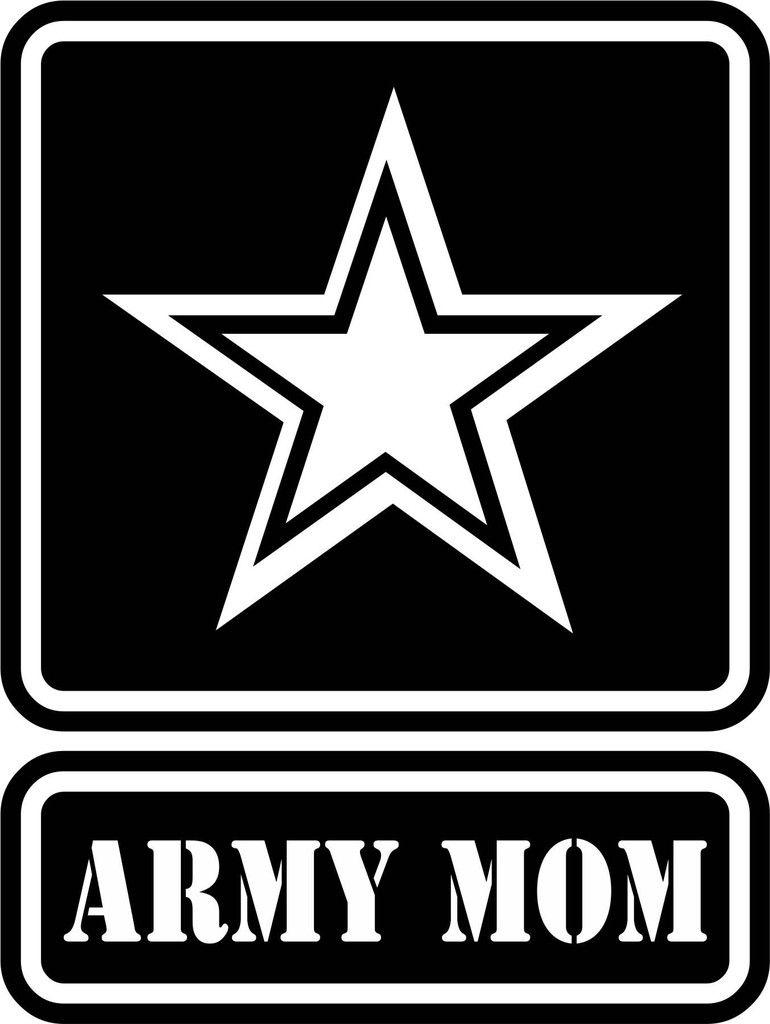 U.S. Army Mom Vinyl Decal Us army logo, Army strong