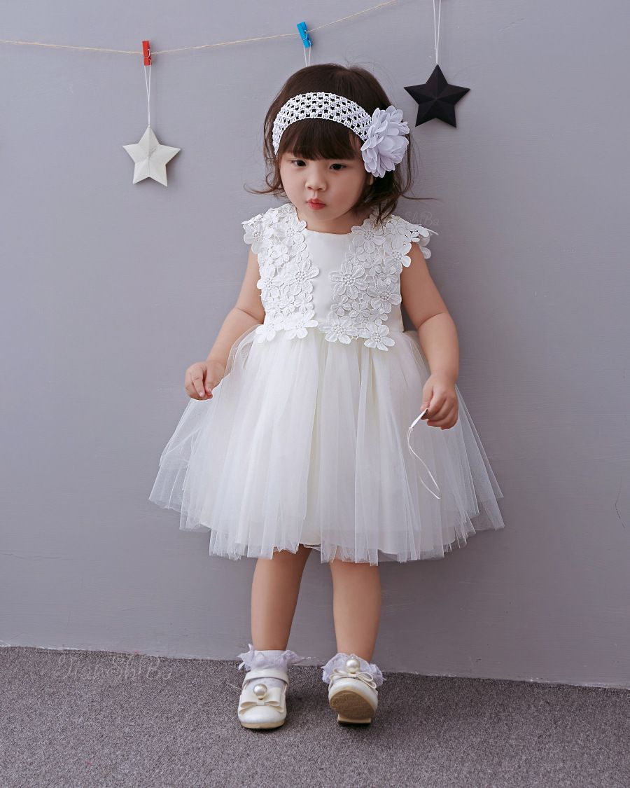 Baby girl clothing baptism dress baby christening formal lace dress ...