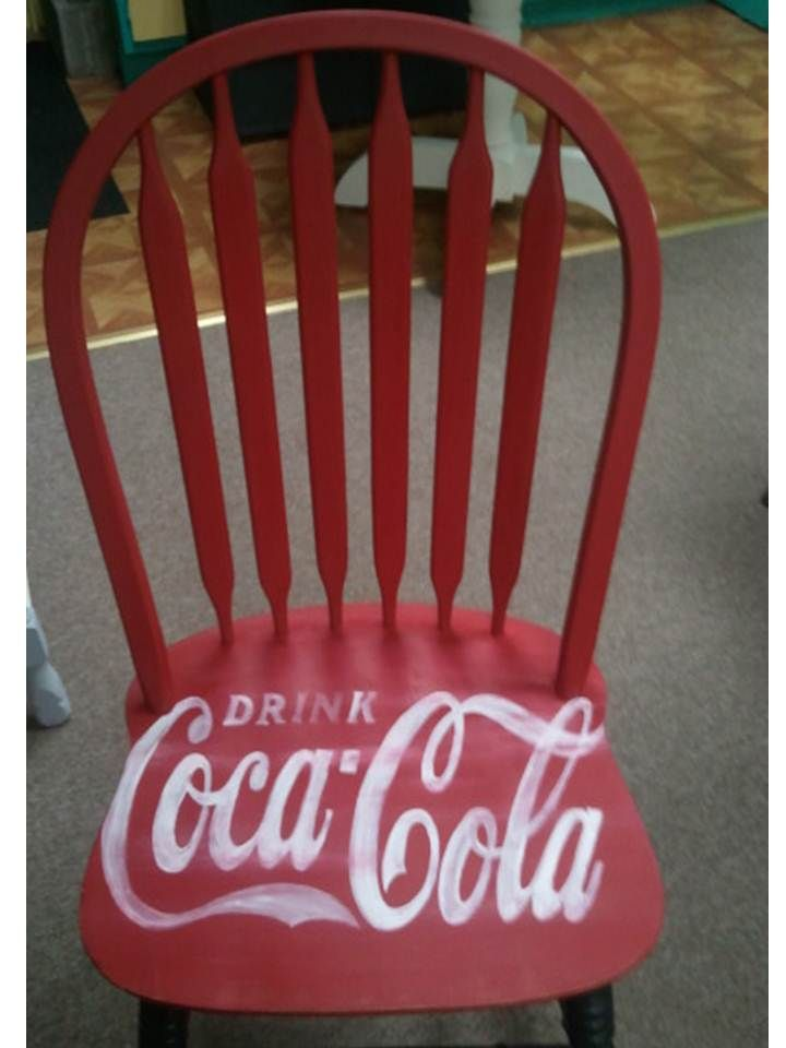CoCa Cola chair: this confirms my idea to do this on my old red church pew!