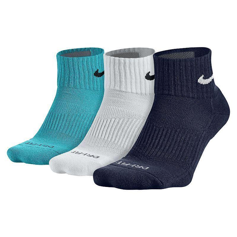 Mens nike 3pack drifit halfcushioned quarter socks