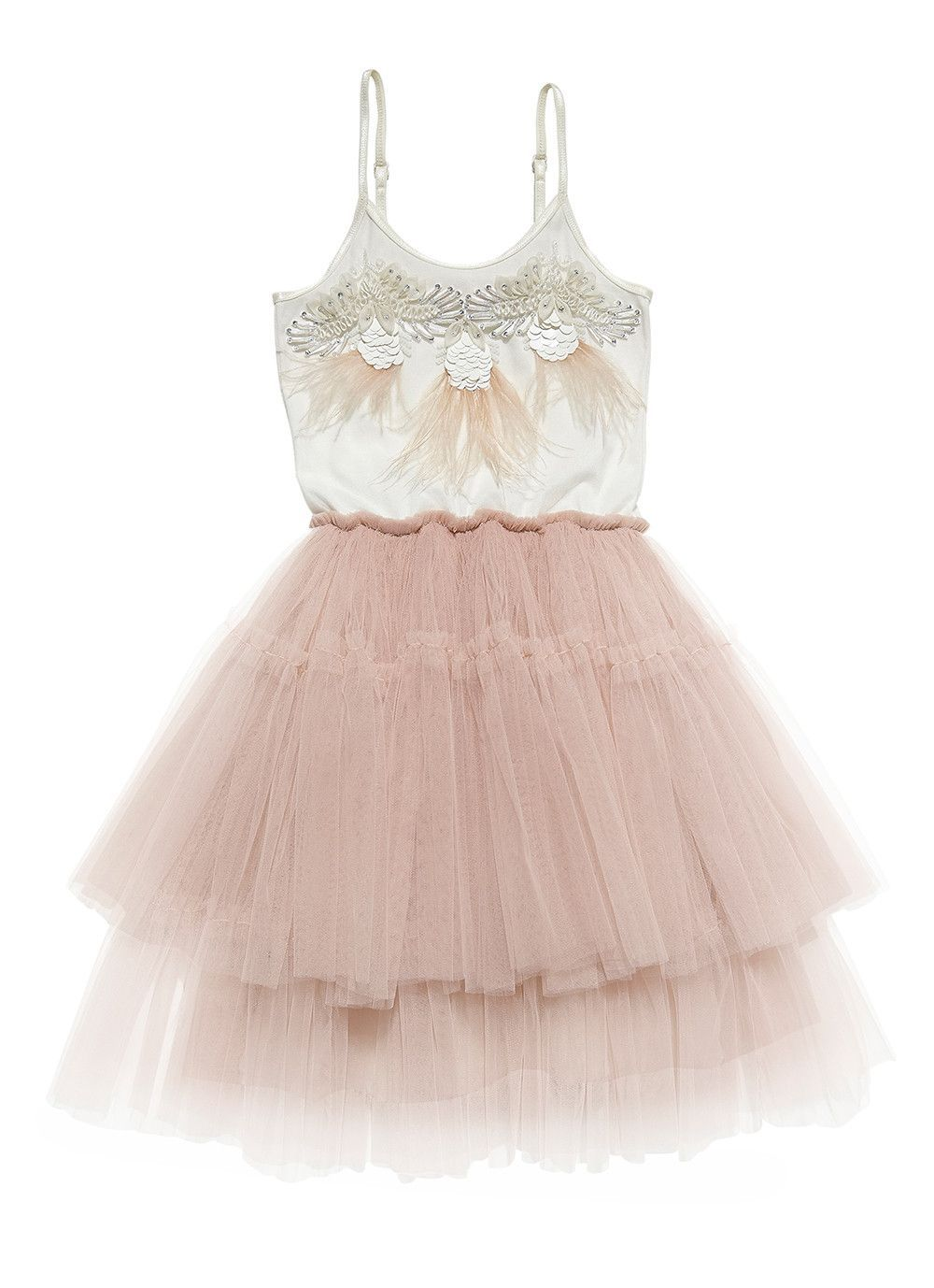 Beneath my wings tutu dress - Milk/Blush