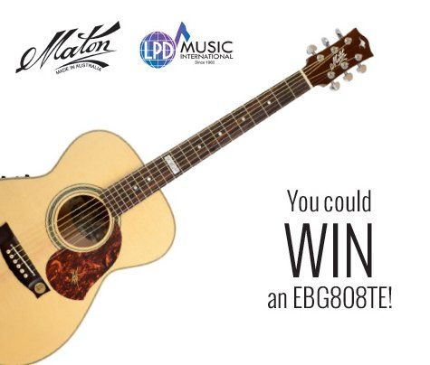 Win a $3,700 00 Maton EBG808TE Acoustic Guitar  It takes a
