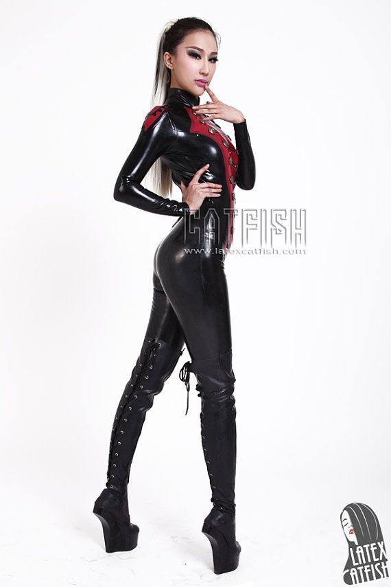 Kong Fu Girl / Sexy woman latex catsuit by LatexCatfish on