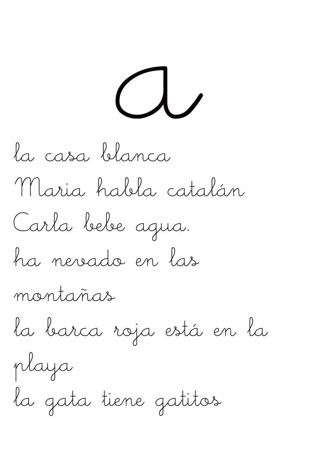 Letra A Fichas De Lectura De Frases