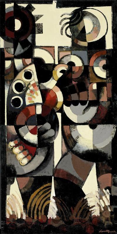 Leonard French Man And Woman With A Bird Australian Art Art
