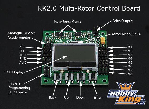 Astounding Hobbyking Kk2 0 Multi Rotor Lcd Flight Control Board Hexacopter Wiring Cloud Hisonuggs Outletorg