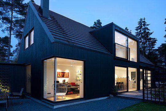 Scandinavian Chic Dark Facades Scandinavian Modern House House Designs Exterior Modern House Design