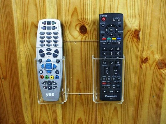 Two Tv Remote Controls Wall Holder Remote Tv Remote Controls Remote Control Holder