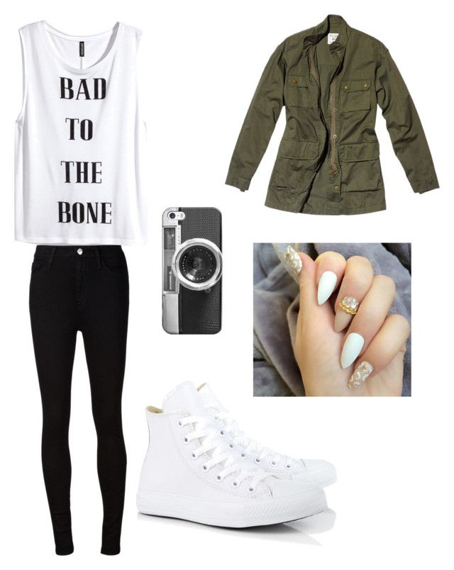 """""""Awesooooome"""" by brionnalang on Polyvore featuring Nili Lotan, AG Adriano Goldschmied, Converse, Casetify and H&M"""