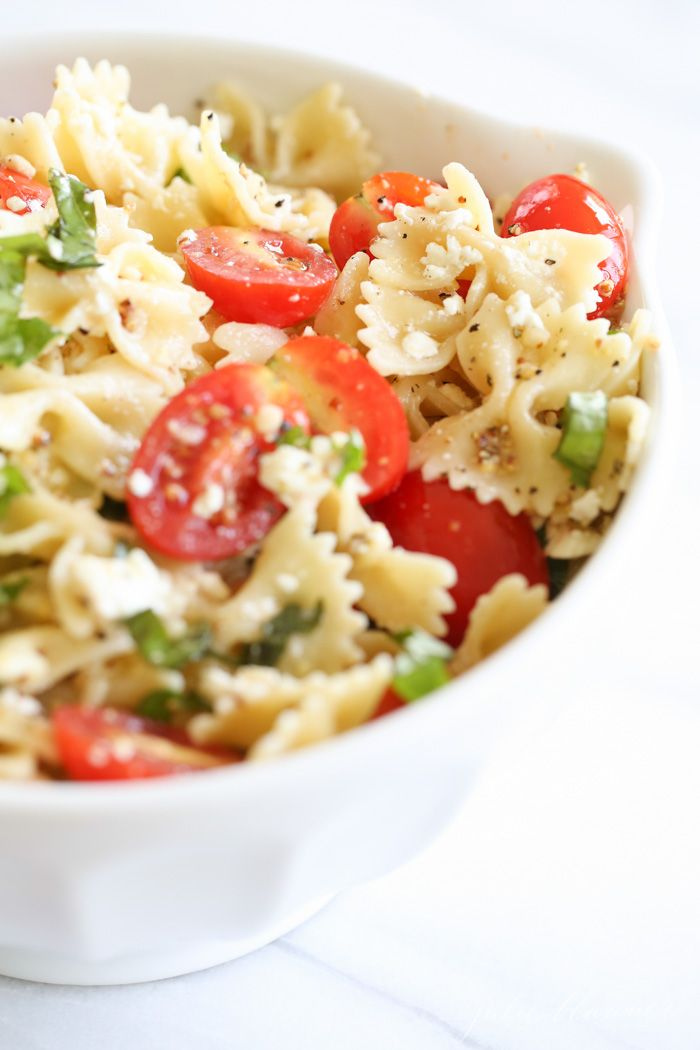 Easy summer pasta salad recipe - the perfect side for BBQ