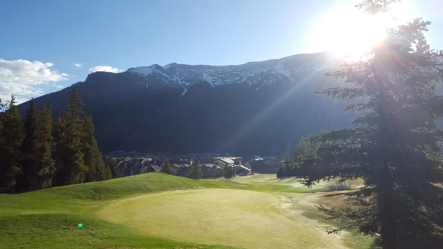 Copper Mountain in the morning Copper Creek Golf Course