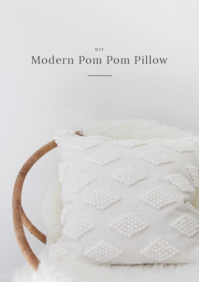 DIY modern pom pom pillow images