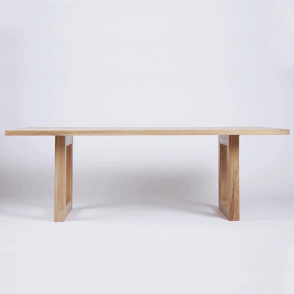 Modern Designer Bondi White Oak Dining And Kitchen Table Solid Wood