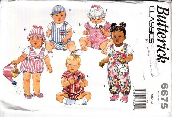 Easy Baby Pattern Infant\'s Jumpsuit Hat Romper by HoneymoonBus ...
