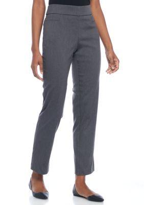 Briggs Heather Gray Petite Solid Pant Short