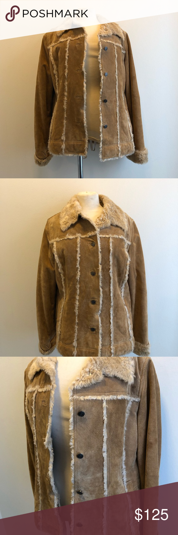 Vintage Wilson's Leather Suede Shearling Jacket