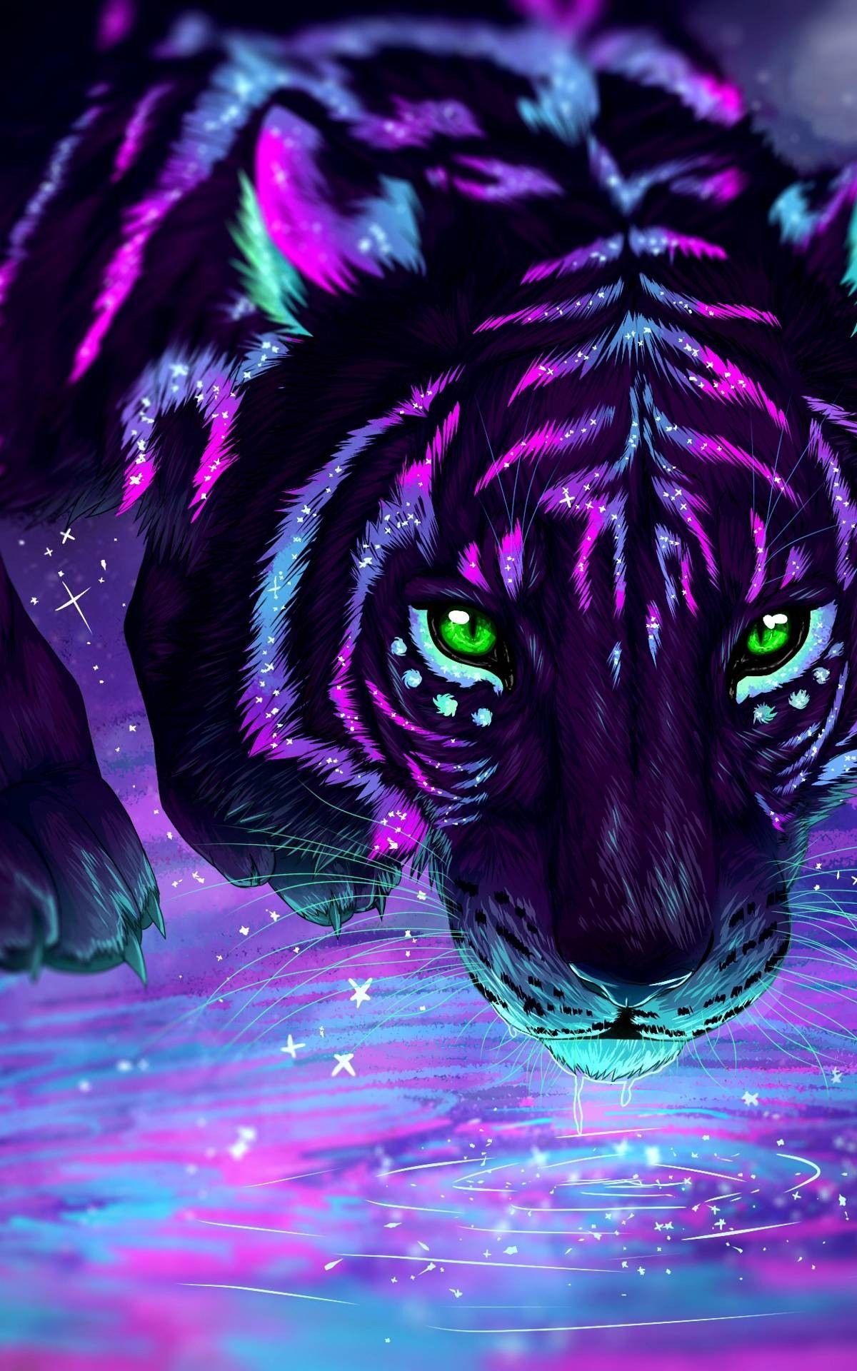 Wow But It S A Good Thing They Re Not Real Or They Would Be Extinct In 2 Years Tiger Art Cute Animal Drawings Animals