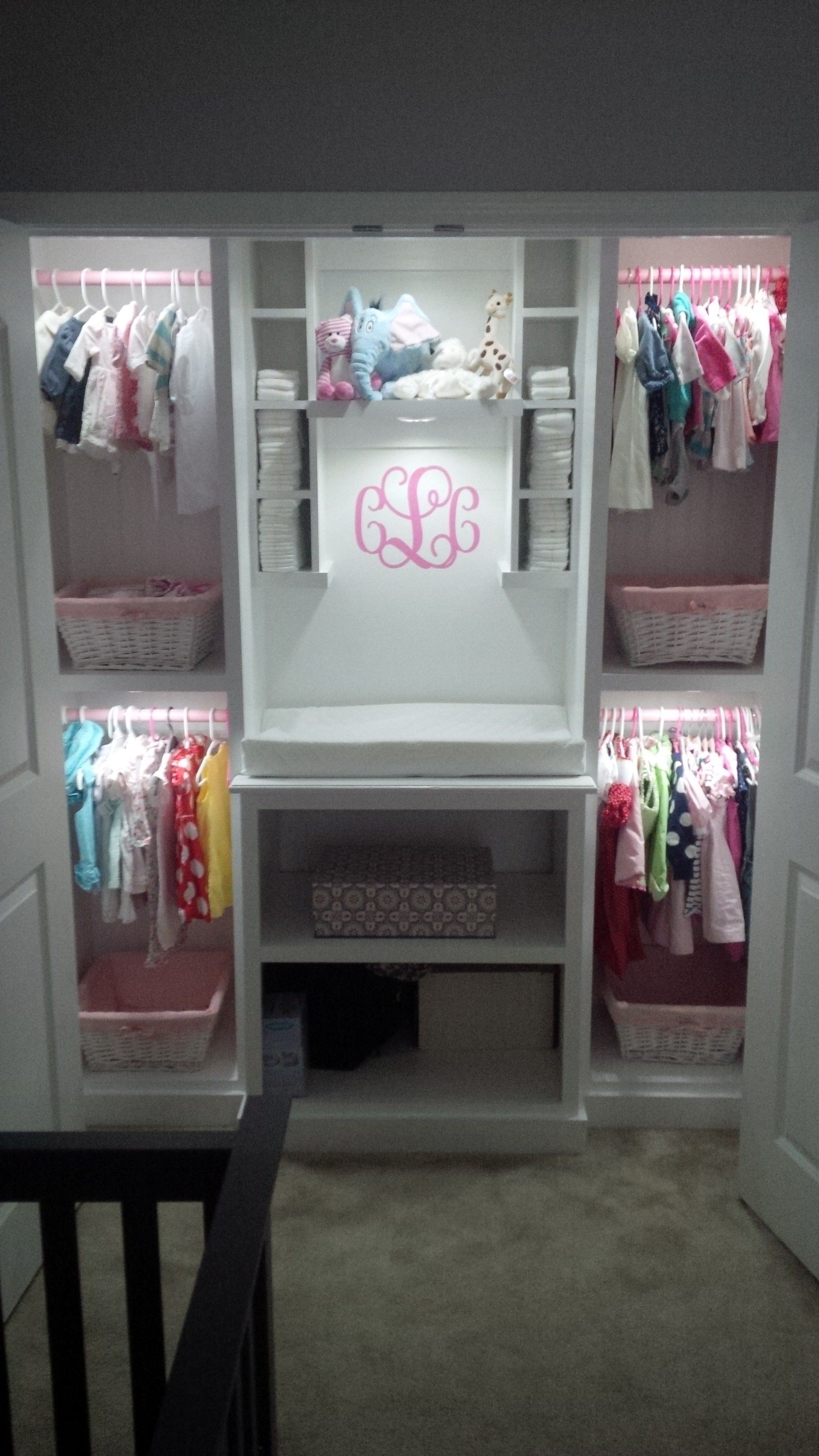 Custom built closet for daddys baby girl wireless