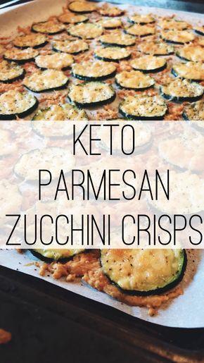 keto parmesan zucchini crisps