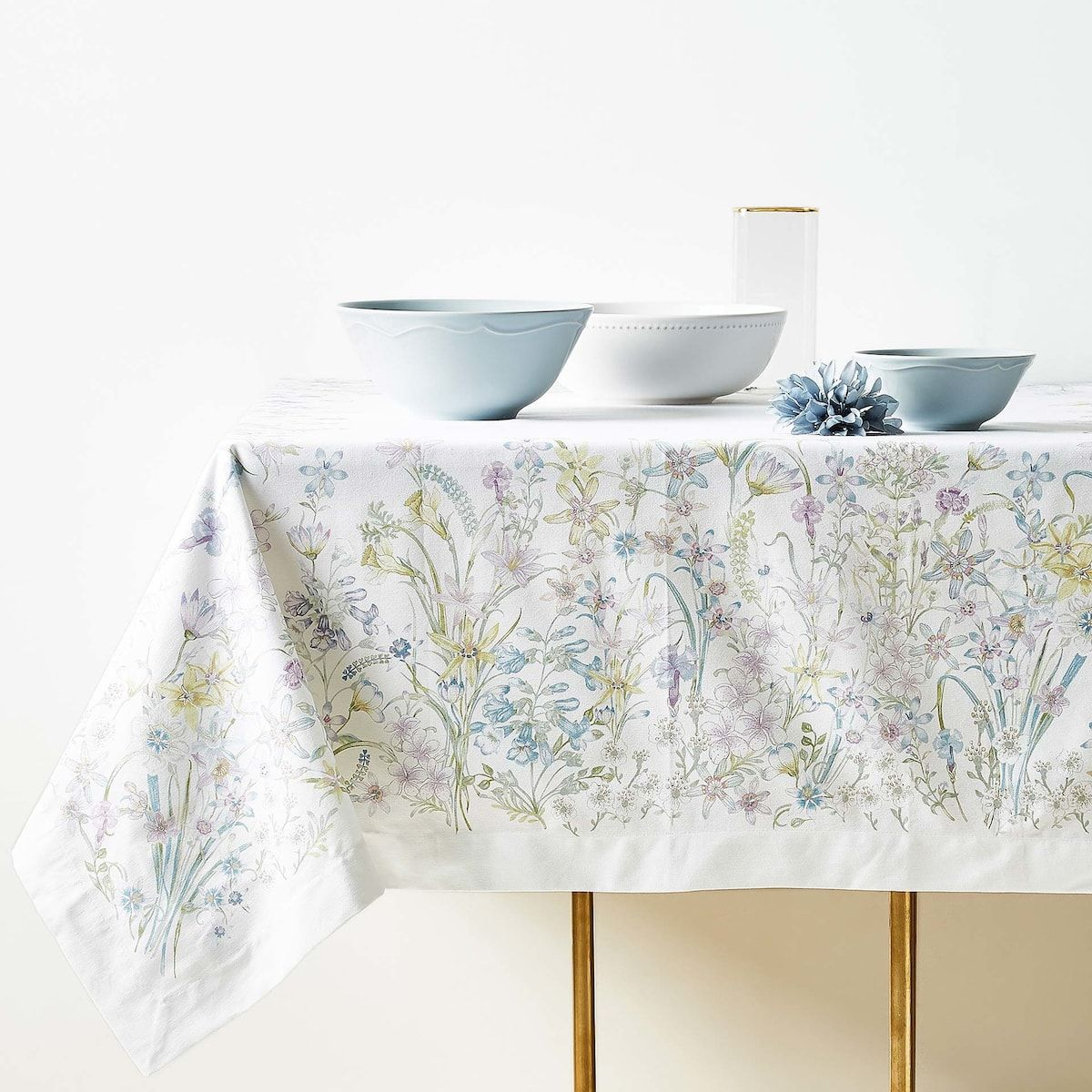 Image 1 Of The Product Floral Print Cotton Tablecloth With Border In 2020 Zara Home Home Home Accessories