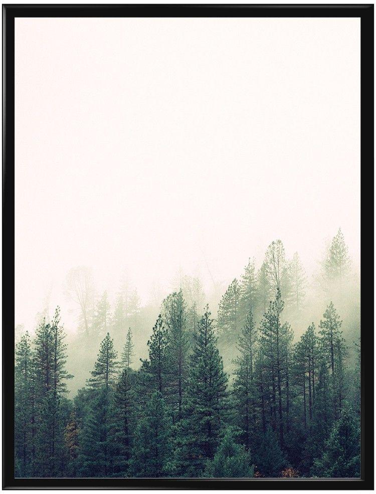 """Vi har valt att kalla denna affisch """"Misty Forest"""", översatt betyder det dimmig…"""