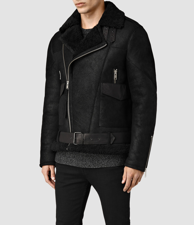 8d735f1a2 Mens Takoma Shearling Jacket (Black) | ALLSAINTS.com | Swag Over ...